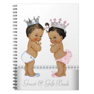 民族の対の王子およびプリンセスのベビーシャワーの本 ノートブック