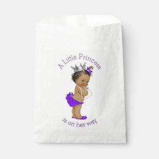 民族の小さいプリンセスのベビーシャワーの紫色 フェイバーバッグ