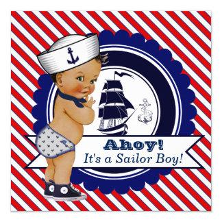 民族の小さい船員の航海のなベビーシャワー 13.3 スクエアインビテーションカード
