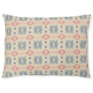 民族の幾何学的なパターン ラージドッグベッド