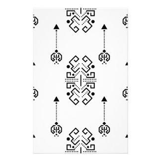 民族の抽象デザイン 便箋