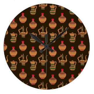 民族の水差し陶器 ラージ壁時計