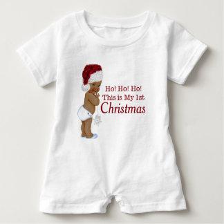 民族の男の子の初めてのクリスマス ベビーロンパース