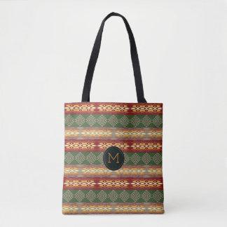 民族の種族のアフリカ人pattern.monogram. トートバッグ