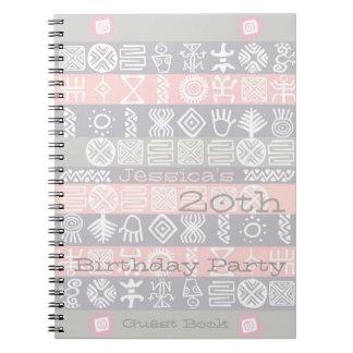 民族の第20誕生会の来客名簿 ノートブック