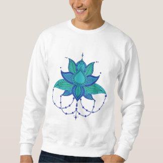 民族の花のはす曼荼羅のオーナメント スウェットシャツ