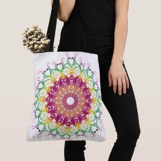 民族の花の多彩な曼荼羅 トートバッグ