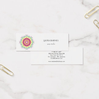 民族の花の曼荼羅 スキニー名刺