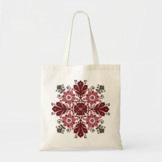 民族の花の花束の円形のオーナメント トートバッグ