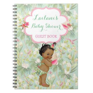 民族の赤ん坊の熱帯ハワイのシャワーの来客名簿 ノートブック