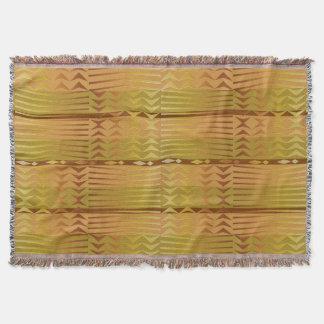 民族の金アフリカの幾何学的なパターン スローブランケット
