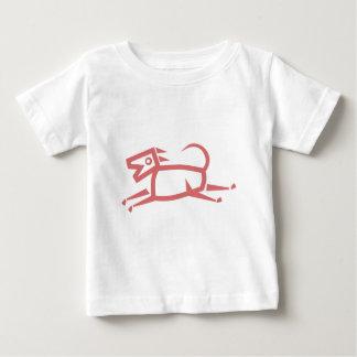 民族犬のベビーの幼児のTシャツ ベビーTシャツ