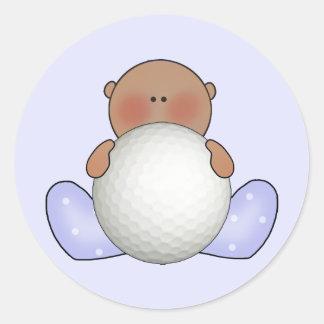 民族Lilのゴルフ男の子 ラウンドシール
