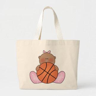 民族Lilのバスケットボールの女の赤ちゃん- ラージトートバッグ