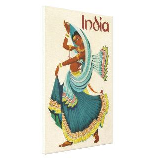 民芸のインディアンの女性 キャンバスプリント