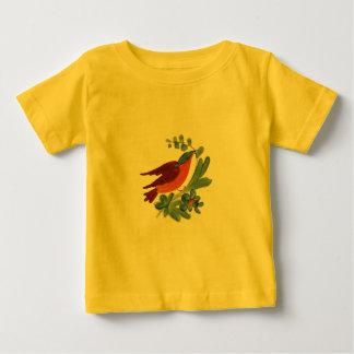 民芸の鳥 ベビーTシャツ