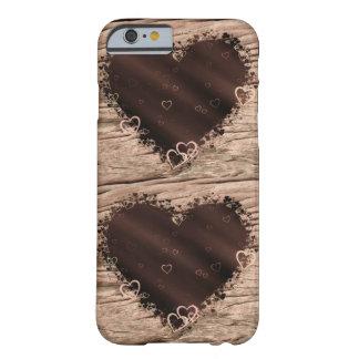 民芸愛コラージュの木のハートのデザイン BARELY THERE iPhone 6 ケース