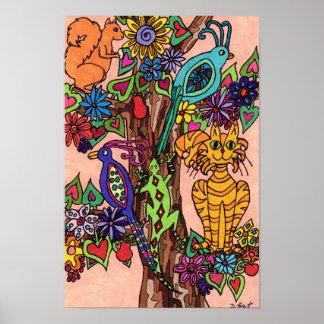 民芸豊富な生命の樹 ポスター