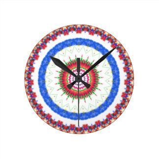 民間伝承の芸術の時計 ラウンド壁時計