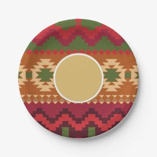 民間伝承北欧パターン|名前入りなギフトの装飾 ペーパープレート