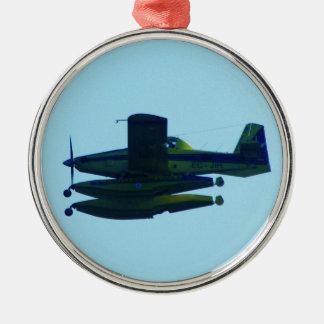 民間防衛隊の水上飛行機 メタルオーナメント