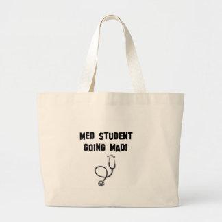 気が狂っているmed学生 ラージトートバッグ