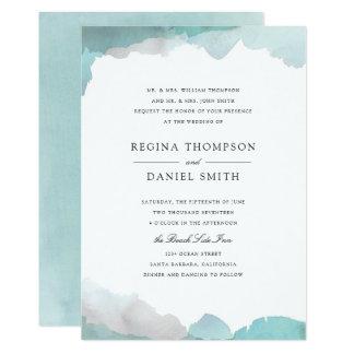 気さくなターコイズの結婚式招待状 カード