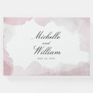 気さくな赤面のピンクの結婚式 ゲストブック