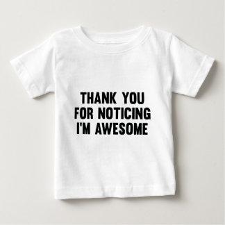 気づいている私をあります素晴らしいですがありがとう ベビーTシャツ