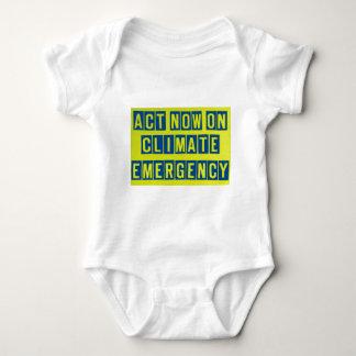 気候の緊急時のTシャツの今行為 ベビーボディスーツ