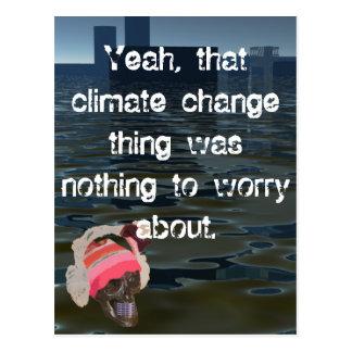 気候のCricketDianeの大気汚染の海水位の上昇 ポストカード