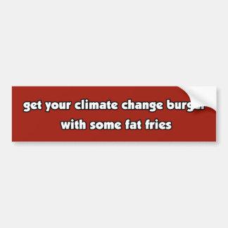気候変動のハンバーガーのベジタリアン/ビーガンのバンパーSt バンパーステッカー