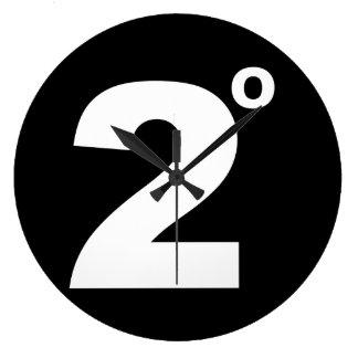 気候変動の柱時計の2度 ラージ壁時計