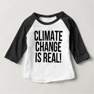 気候変動は実質です! 惑星の地球の世界 ベビーTシャツ