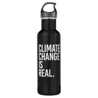 気候変動は実質の- -白です ウォーターボトル