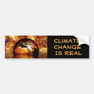 """""""気候変動は非常に熱い地球とのRealです バンパーステッカー"""