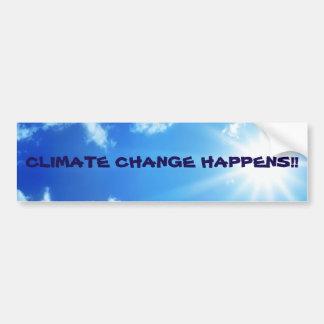 """""""気候変動バンパーステッカー""""は明るい空の起こります バンパーステッカー"""