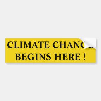 気候変動 バンパーステッカー