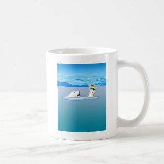 気候変動: 行っている白くま コーヒーマグカップ