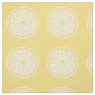 気分のMandallaの浅い黄色のアジア~の小さいパターン ファブリック