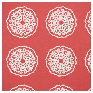 気分のMandallaの赤いアジア~の小さいパターン ファブリック