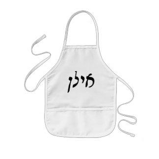 気力、Ilan -ヘブライRashiの原稿のレタリング 子供用エプロン