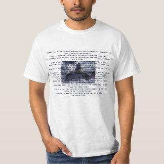 気取った否定 Tシャツ