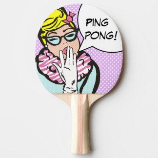 気取った女性ポップアート卓球ラケット 卓球ラケット