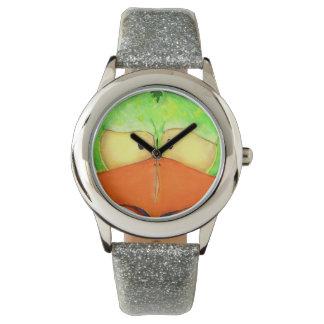 気取んだCockatielのeWatchFactoryグリッターの腕時計 腕時計
