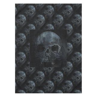 気味悪いゴシック様式ハロウィンの骨組骨のX線のスカル テーブルクロス