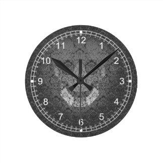 気味悪いスカル ラウンド壁時計