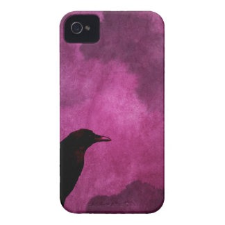 気味悪いハロウィンのワタリガラスのプリント Case-Mate iPhone 4 ケース