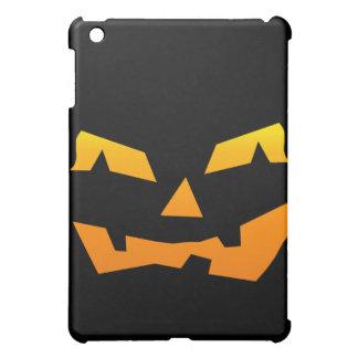 気味悪いハロウィーンのカボチャのちょうちんハロウィンのカボチャ顔 iPad MINIカバー