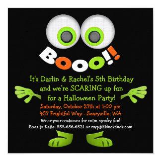 気味悪いモンスターの双生児の誕生日の招待状 カード